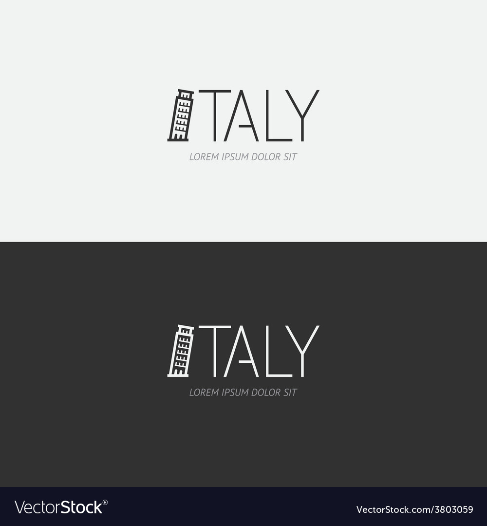 Alphabet italy design concept with flat sign vector | Price: 1 Credit (USD $1)