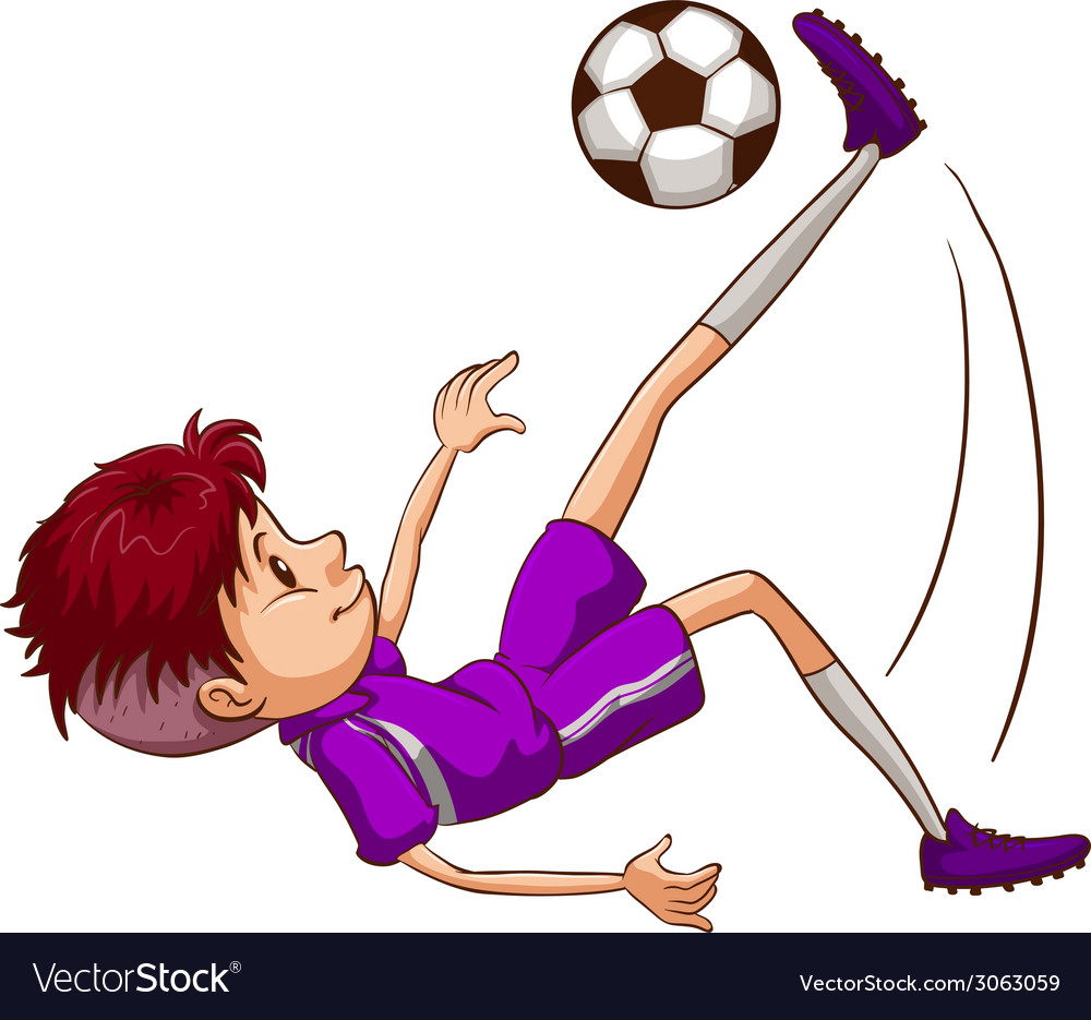 An energetic soccer player vector | Price: 1 Credit (USD $1)