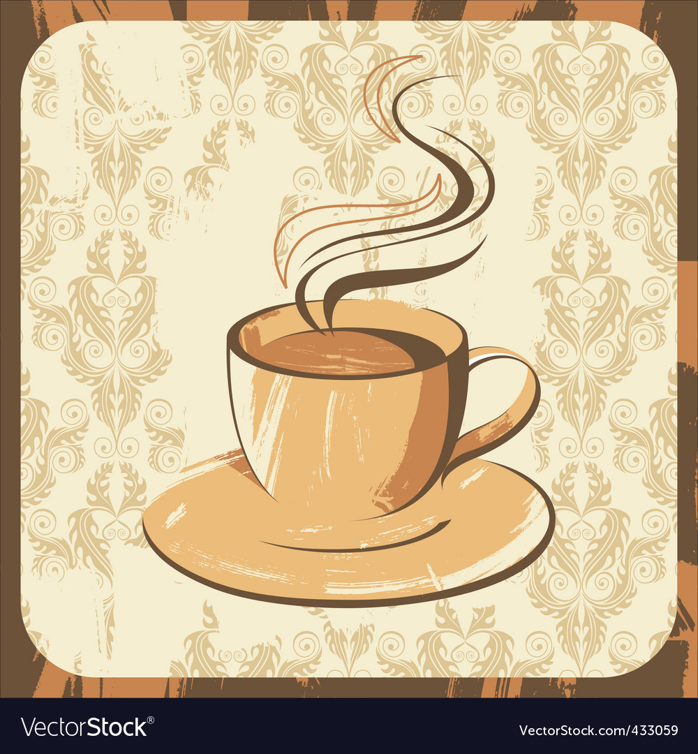 Coffee cup retro vector | Price: 1 Credit (USD $1)