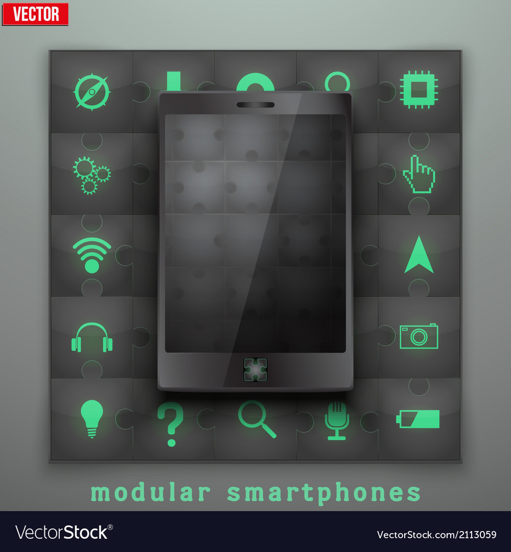 Concept of modular smartphone background vector | Price: 1 Credit (USD $1)