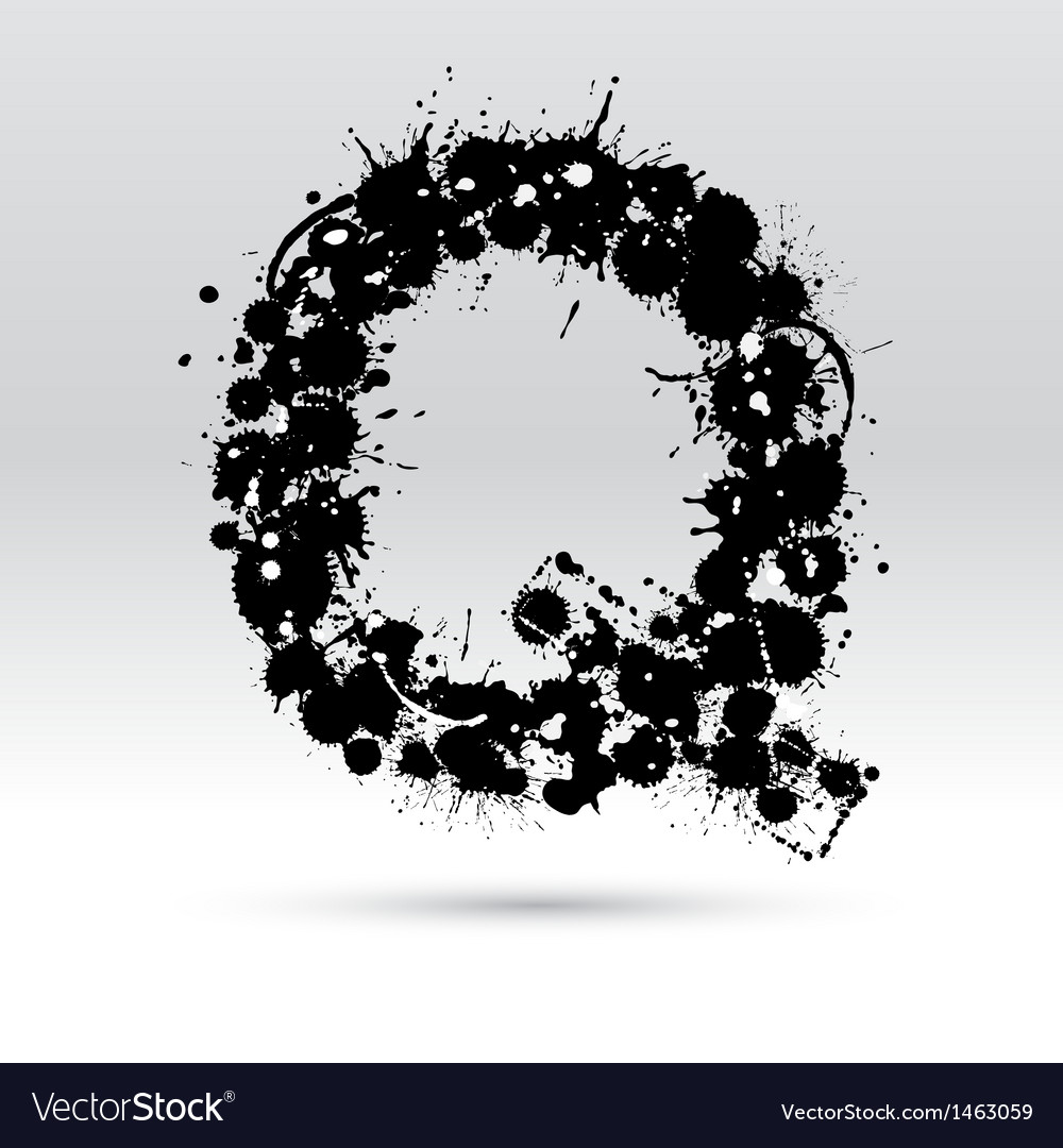 Letter q formed by inkblots vector | Price: 1 Credit (USD $1)