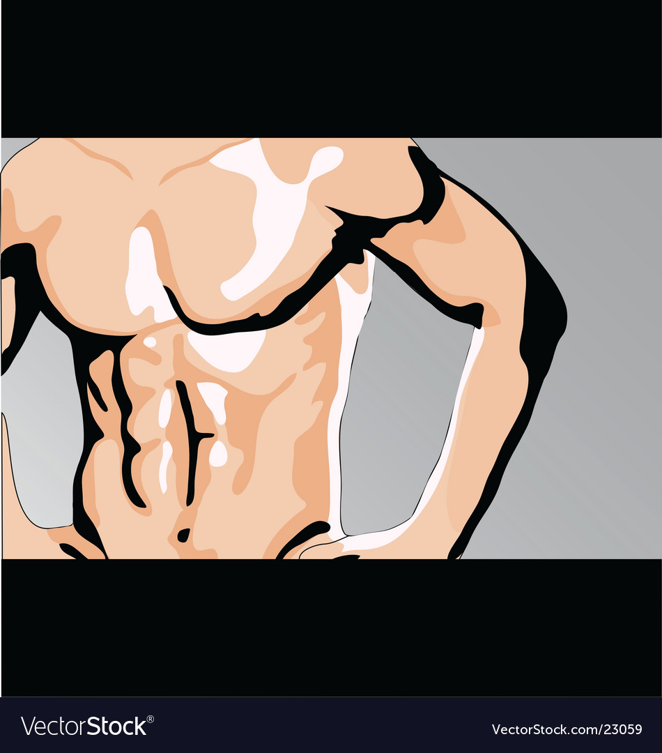 Male torso vector | Price: 1 Credit (USD $1)