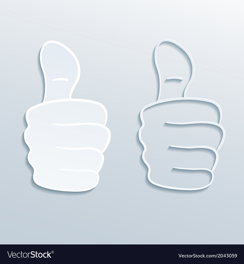 Paper thumbs up vector | Price: 1 Credit (USD $1)