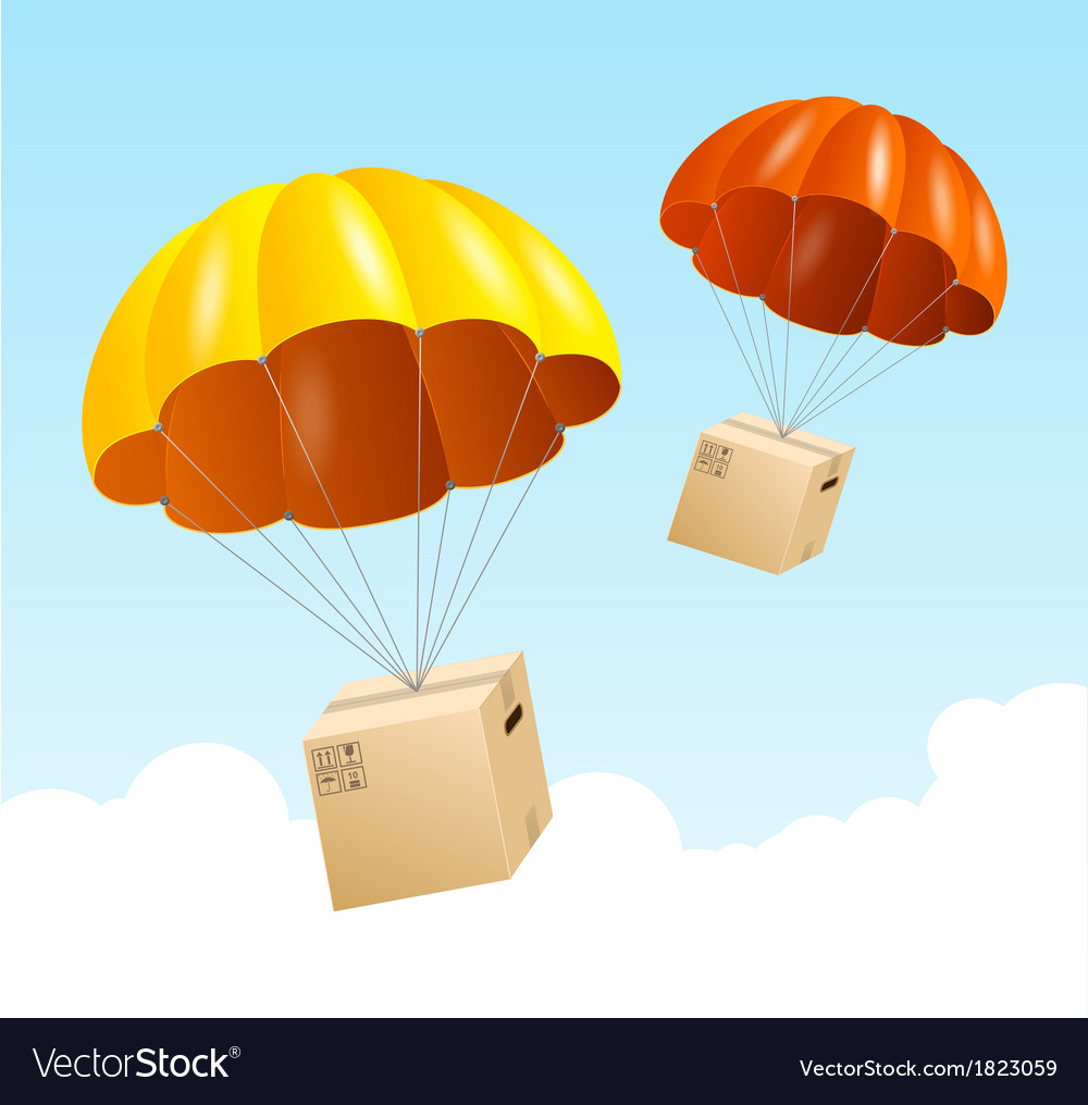 Parachute background air shipping concept vector | Price: 1 Credit (USD $1)