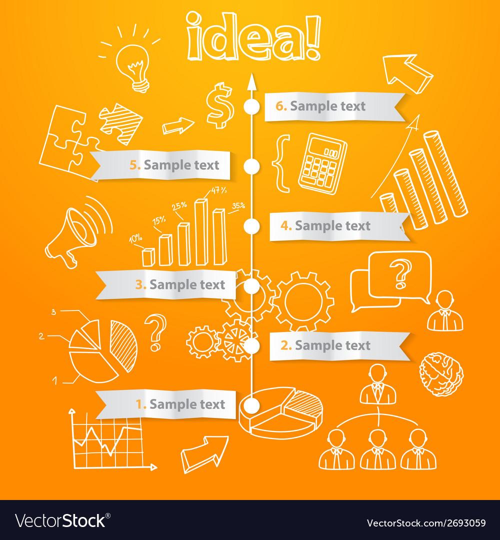 Process of idea generation business vector | Price: 1 Credit (USD $1)