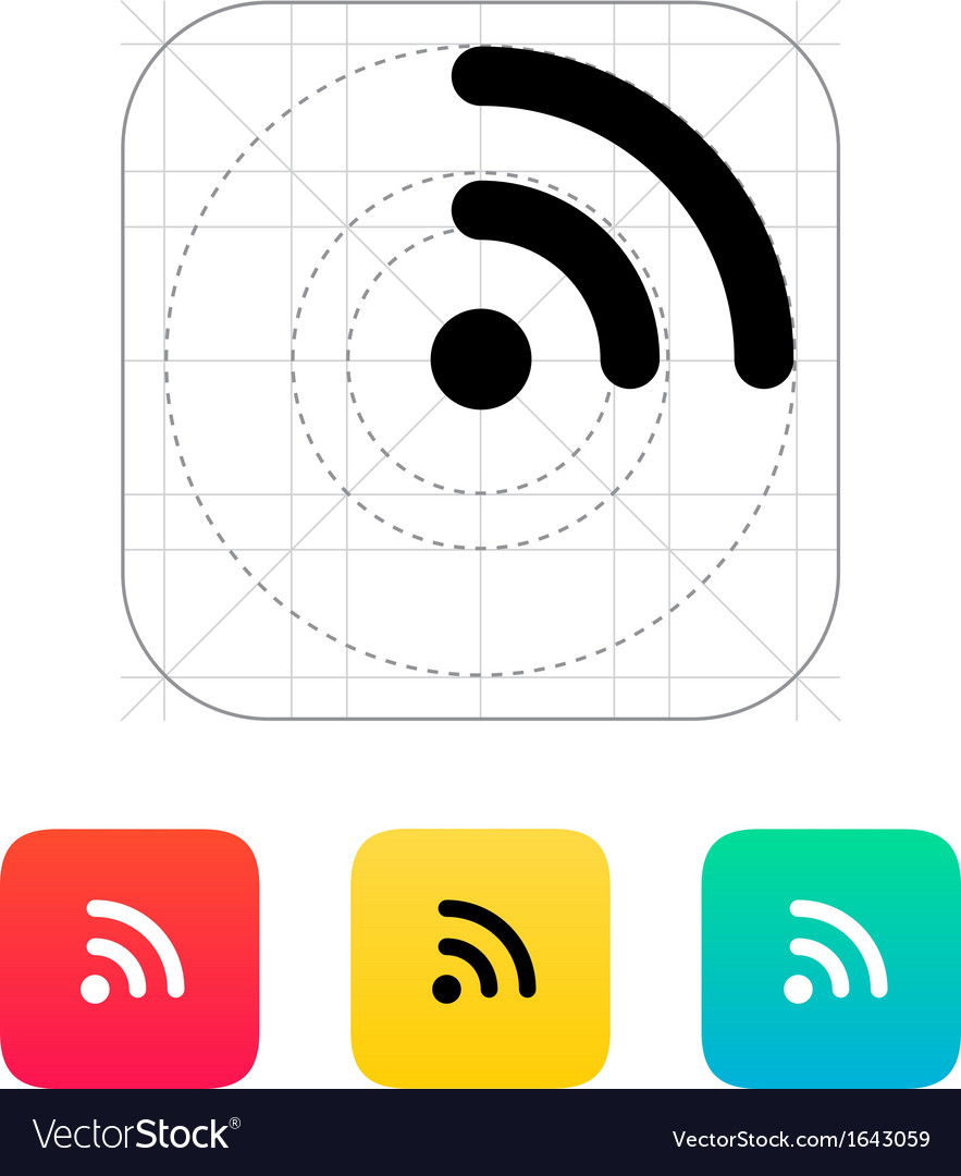 Radio signal wi-fi icon vector | Price: 1 Credit (USD $1)