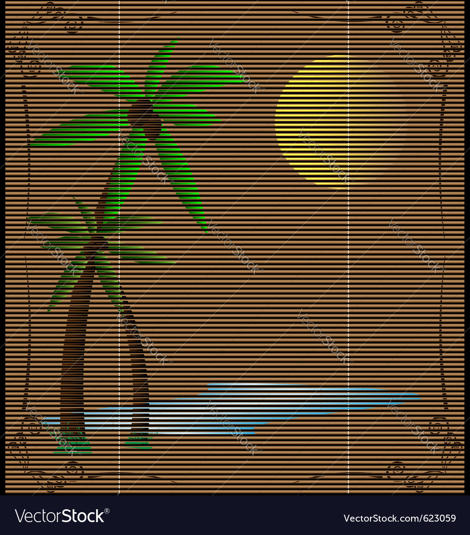 Straw mat summer landscape vector | Price: 1 Credit (USD $1)