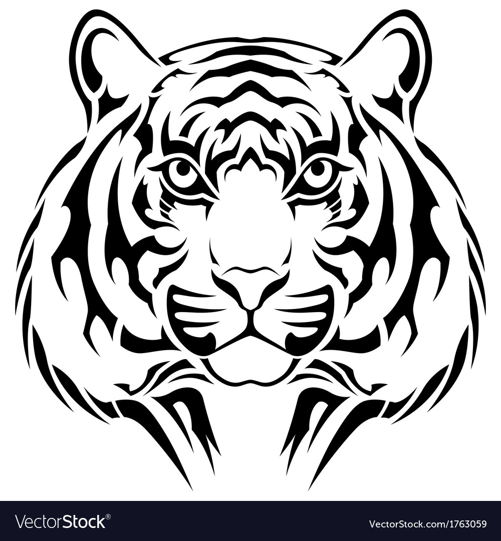 Tiger tribal tattoo vector   Price: 1 Credit (USD $1)
