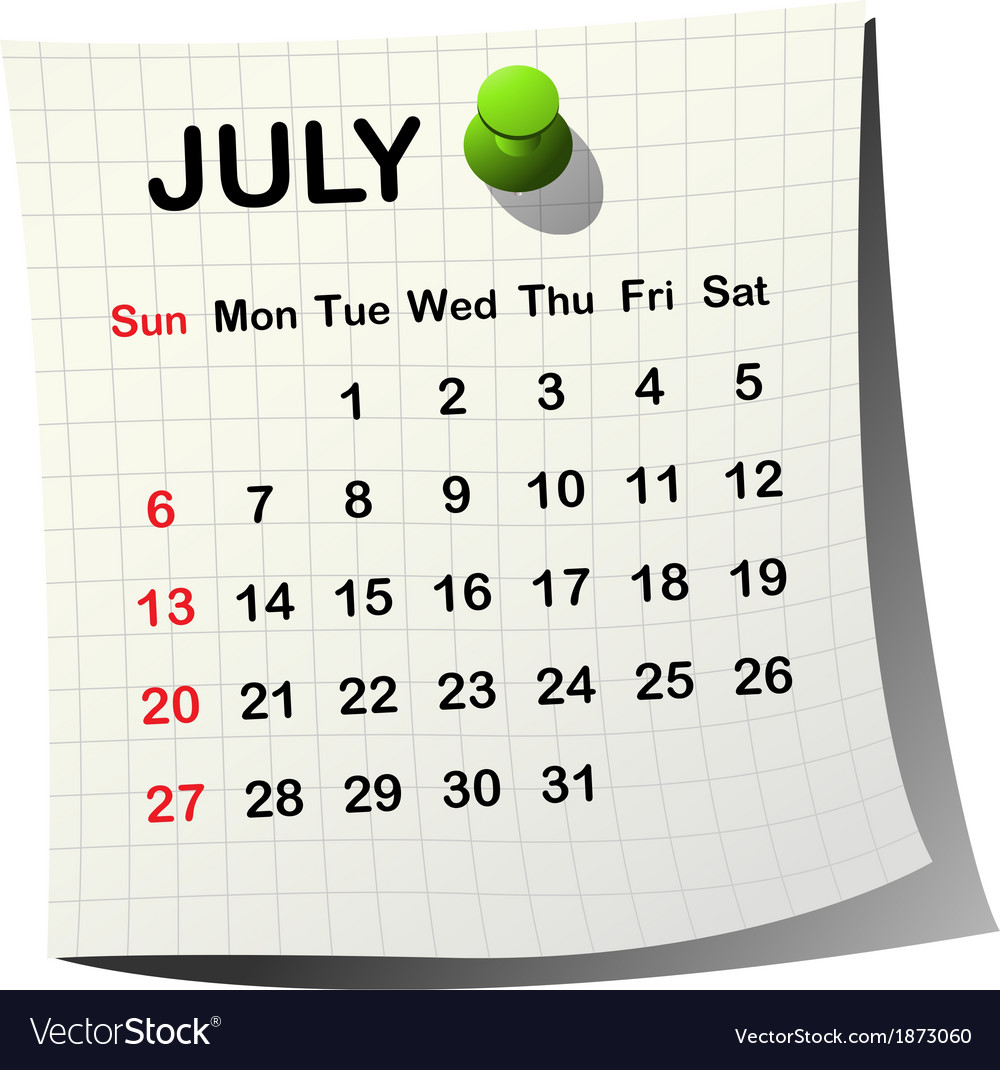 2014 paper calendar for july vector | Price: 1 Credit (USD $1)