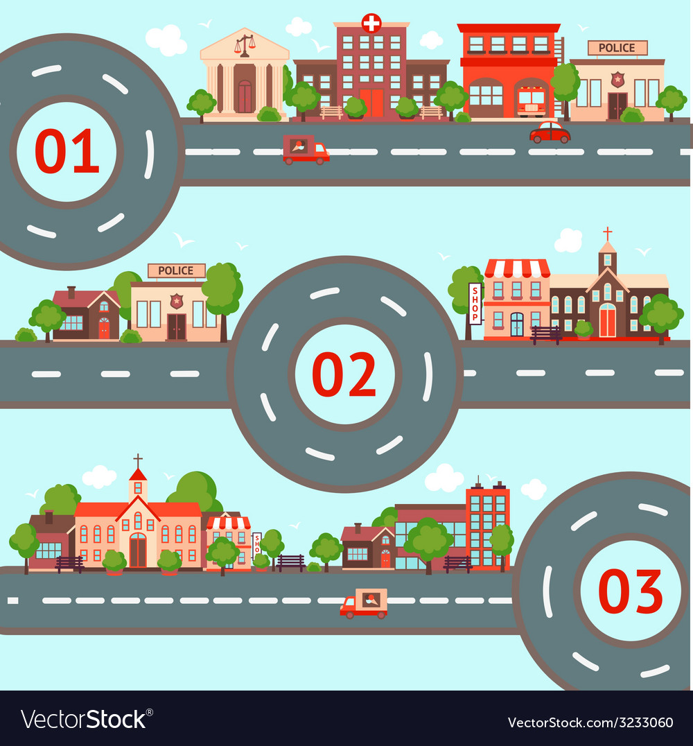 City infographics set vector | Price: 1 Credit (USD $1)