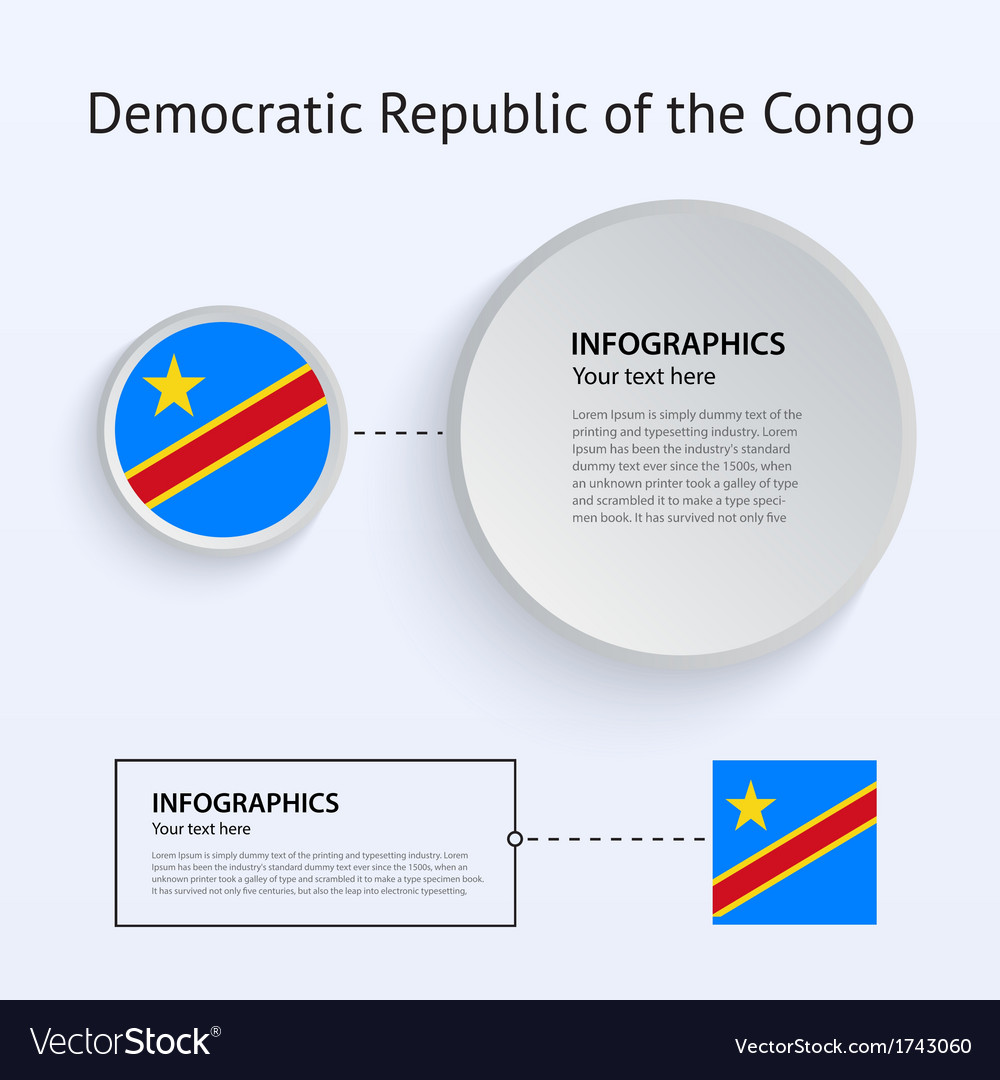Democratic republic congo country set of banners vector | Price: 1 Credit (USD $1)