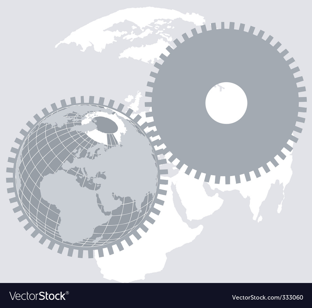 Earth wheel vector | Price: 1 Credit (USD $1)
