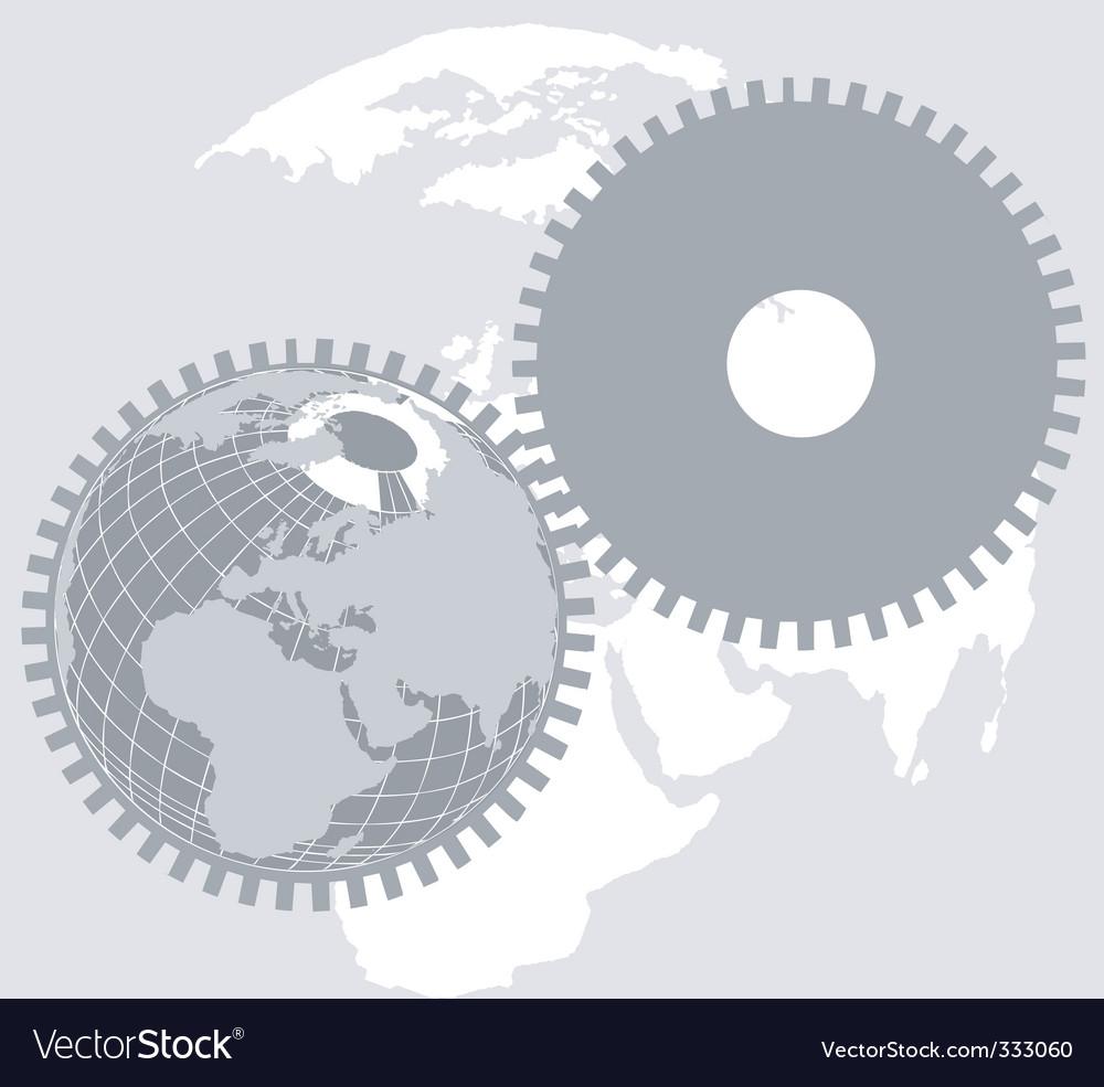 Earth wheel vector | Price: 1 Credit (USD $1)