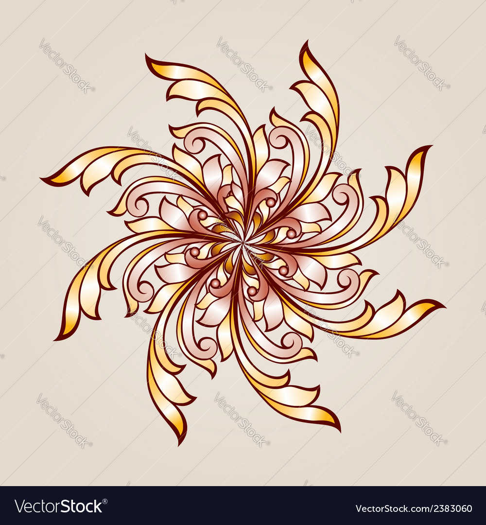 Flower pattern henna vector | Price: 1 Credit (USD $1)