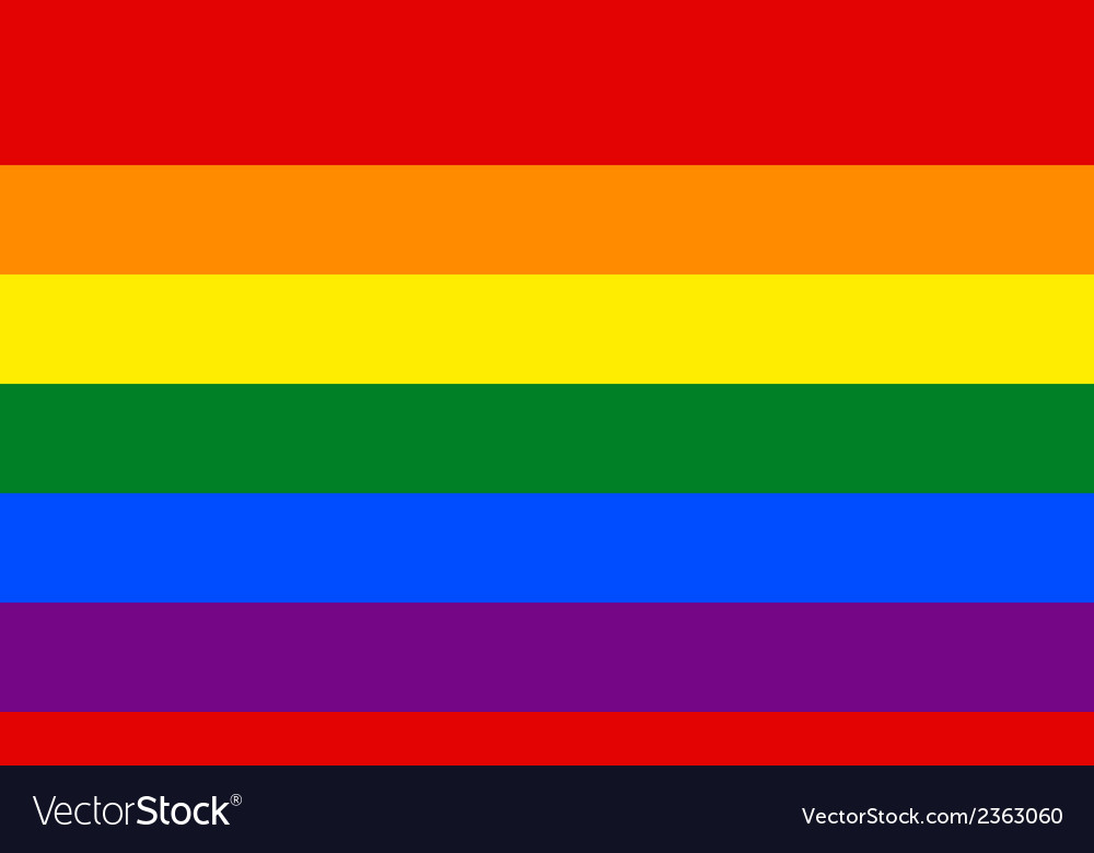 Gay flag vector | Price: 1 Credit (USD $1)