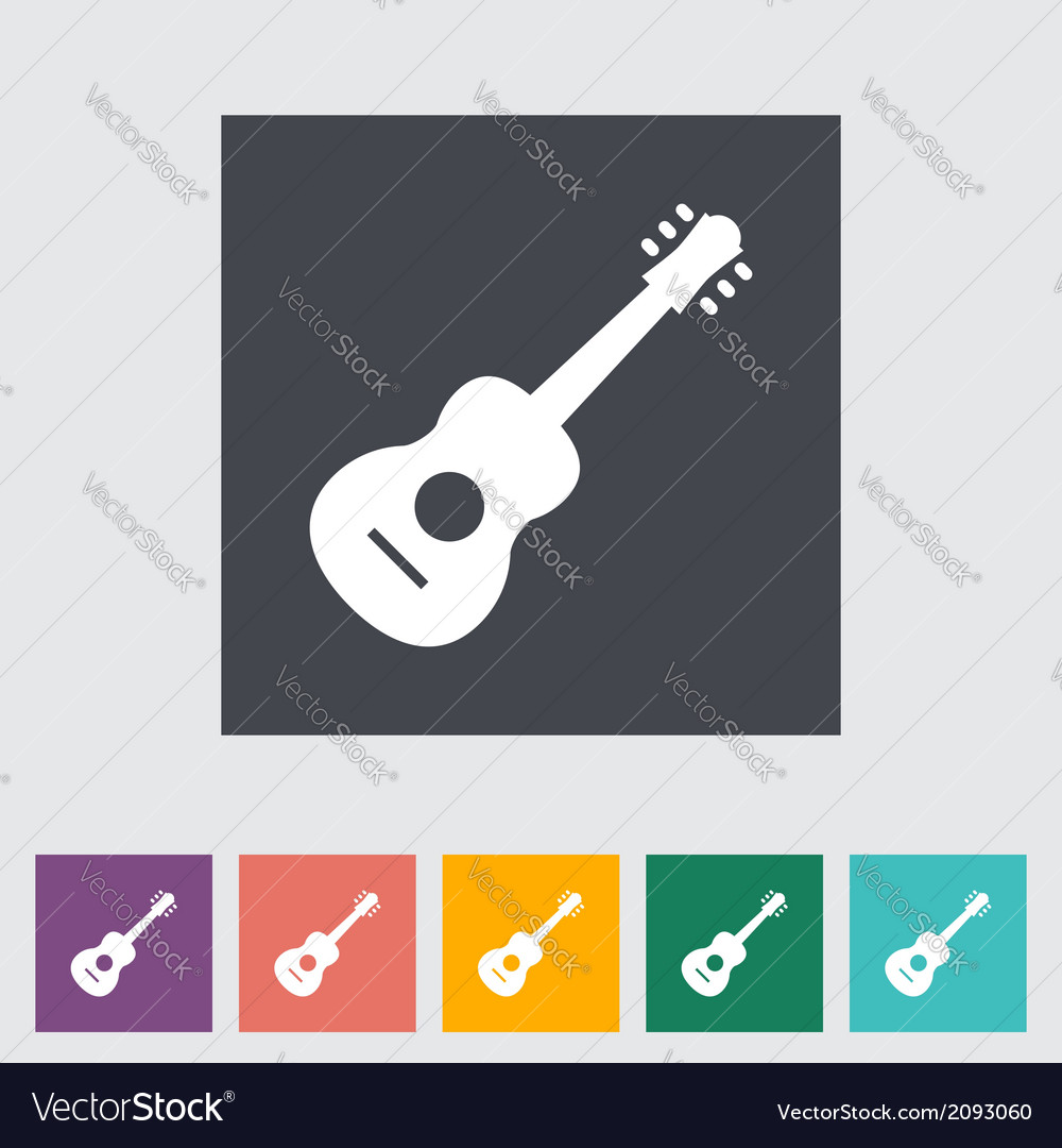 Guitar icon vector | Price: 1 Credit (USD $1)