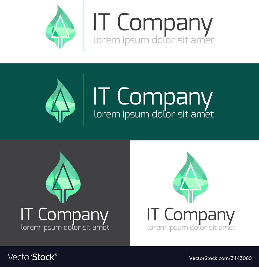 Minimalistic it or design studio logo vector | Price: 1 Credit (USD $1)