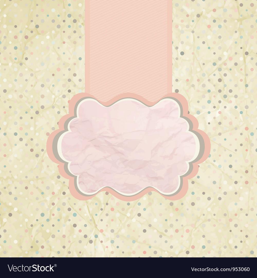 Polka dot invitation background vector | Price: 1 Credit (USD $1)