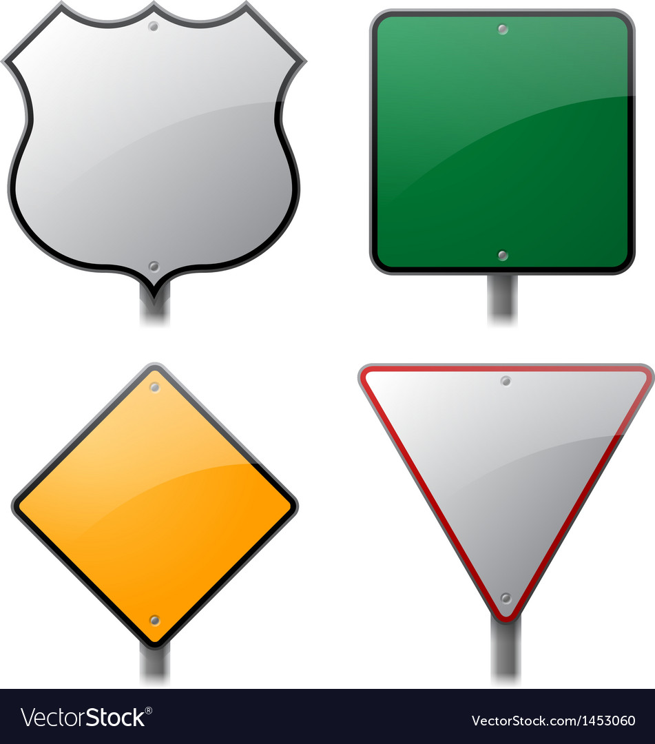 Road signs vector | Price: 1 Credit (USD $1)