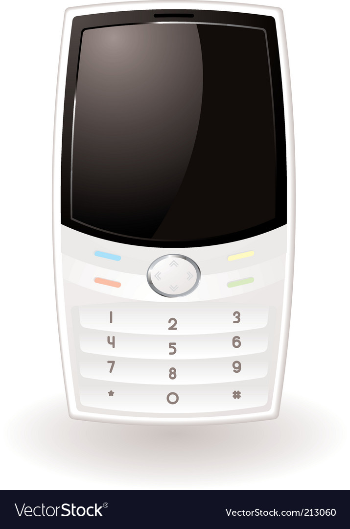 White cell phone vector | Price: 1 Credit (USD $1)