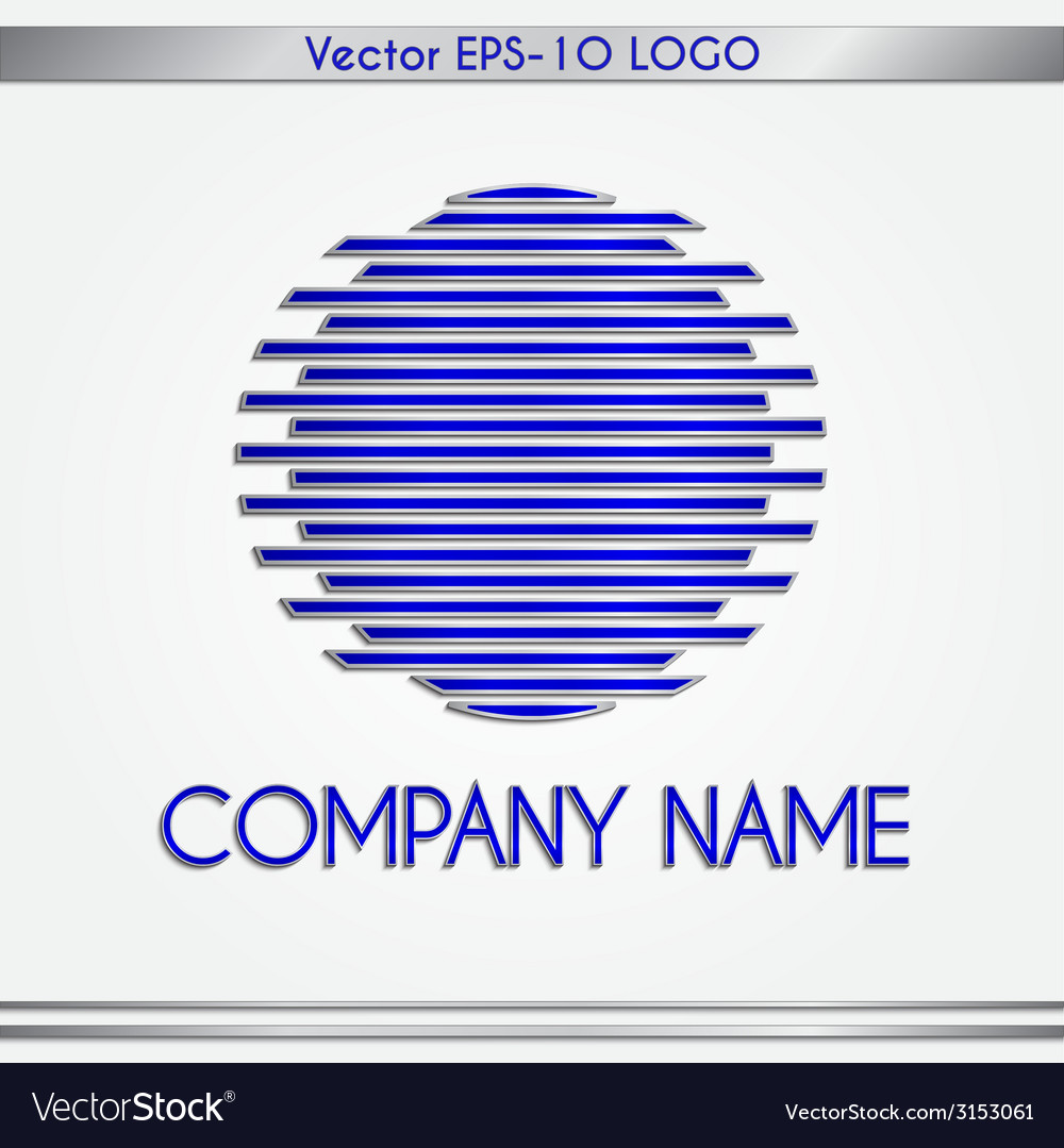 Abstract company name blue and silver round logo vector | Price: 1 Credit (USD $1)