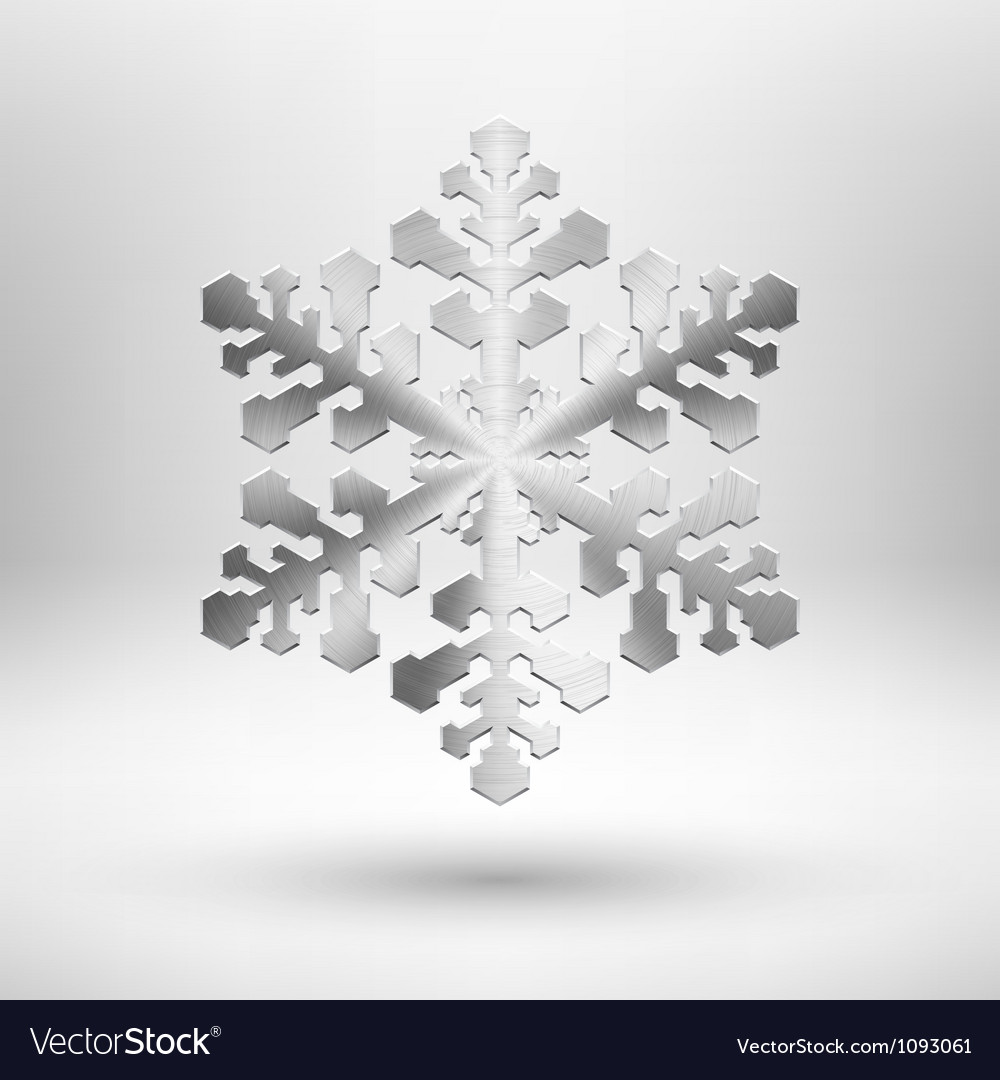 Abstract metal christmas snowflake vector | Price: 1 Credit (USD $1)