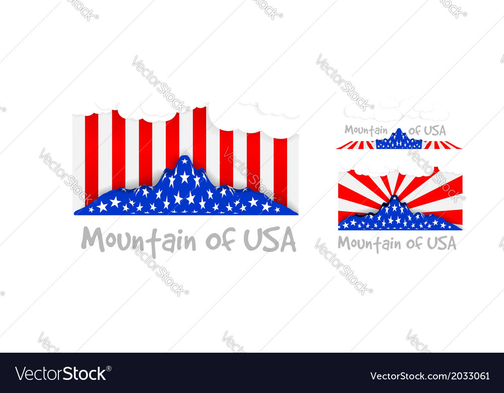American mountain as the united states flag vector | Price: 1 Credit (USD $1)