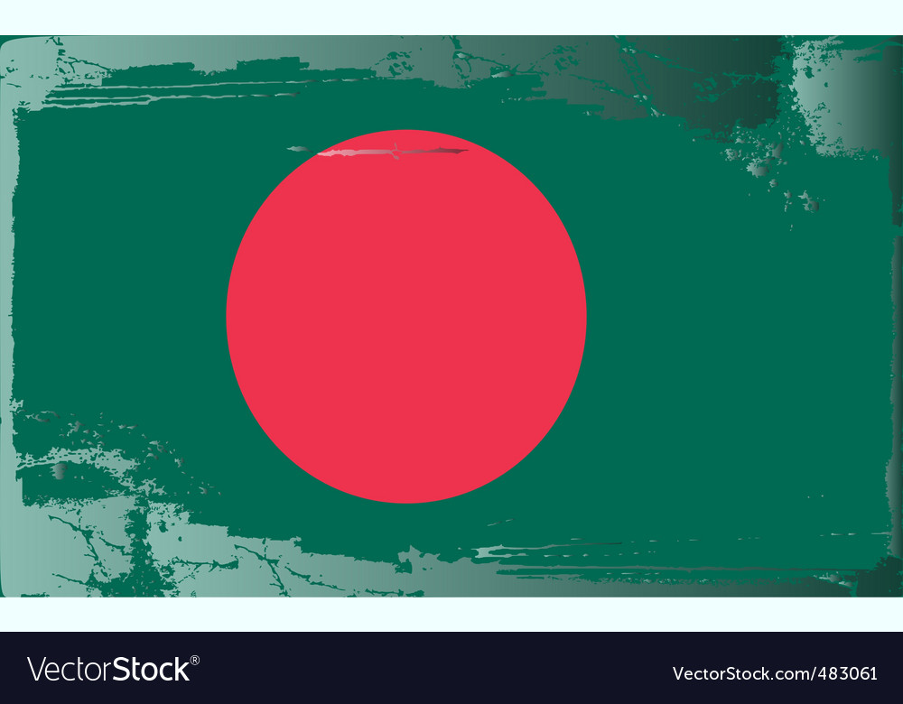 Bangladesh national flag vector | Price: 1 Credit (USD $1)