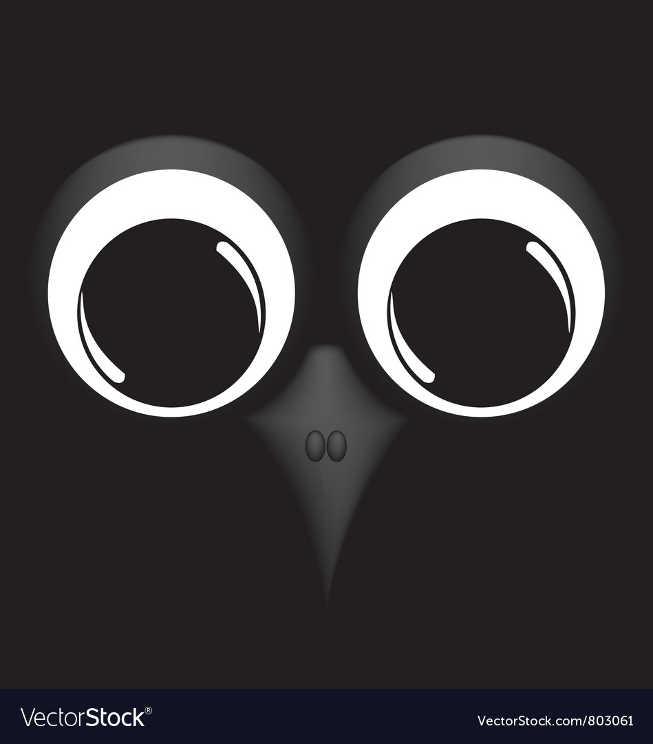Bird on black background vector | Price: 1 Credit (USD $1)