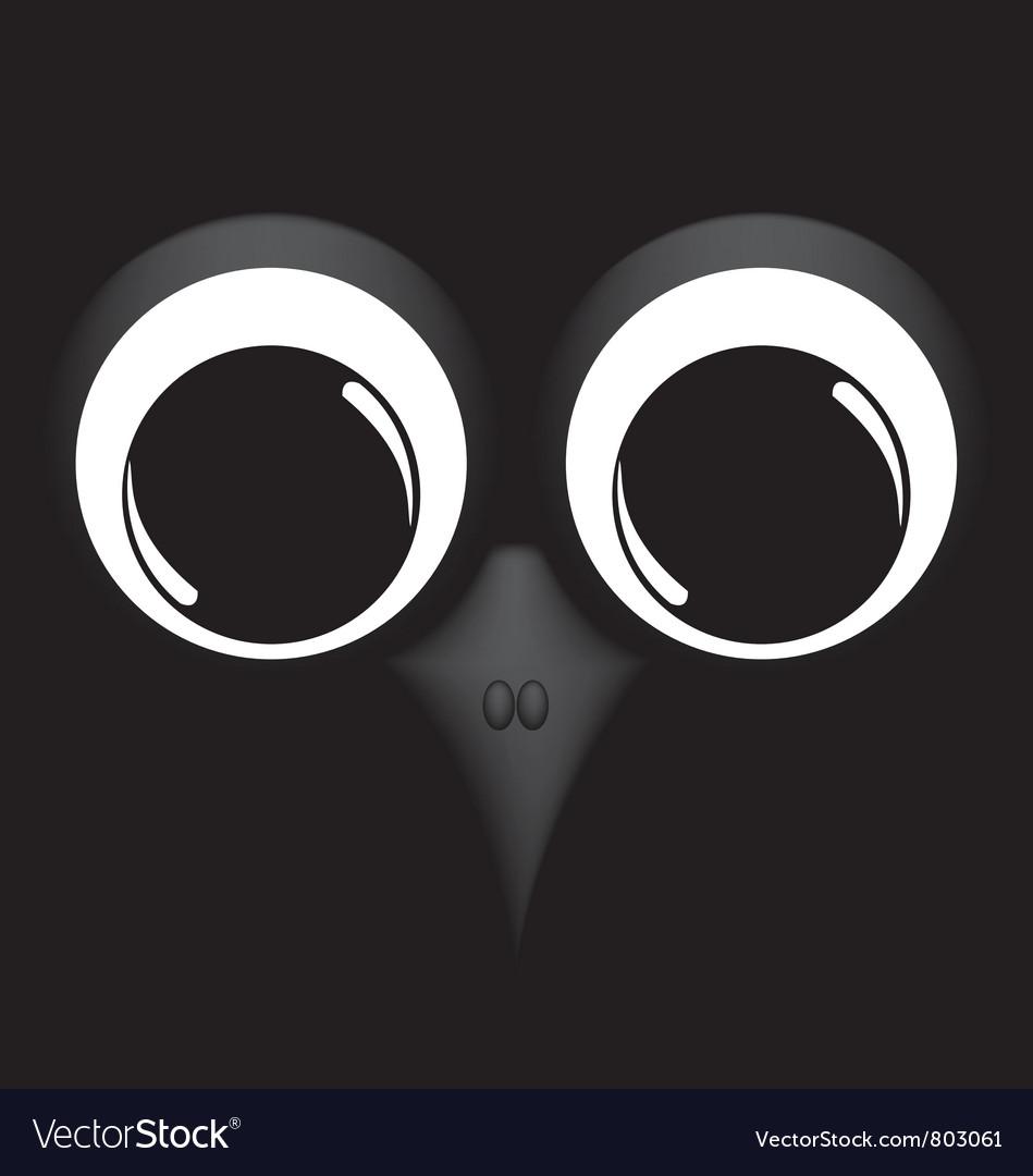 Bird on black background vector | Price: 1 Credit (USD $1)