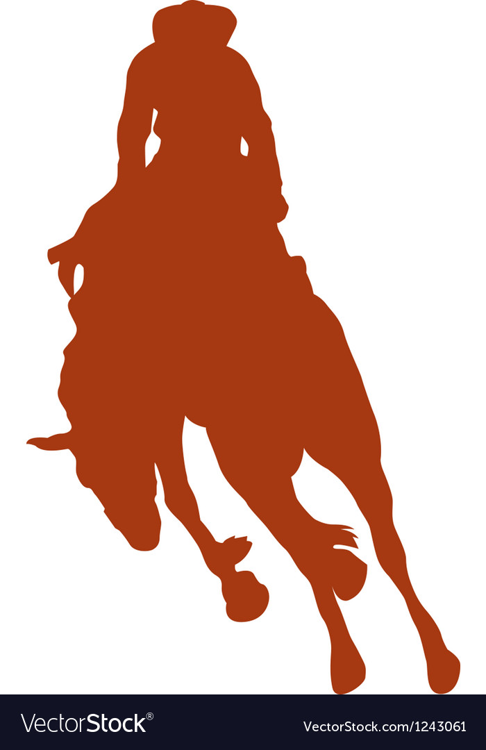 Cowboy rider silhouettes vector | Price: 1 Credit (USD $1)