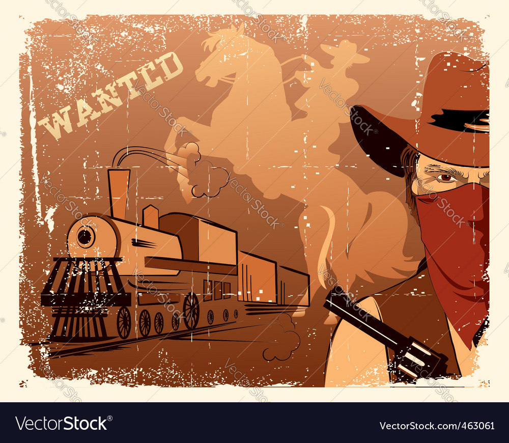Cowboy western vector | Price: 1 Credit (USD $1)