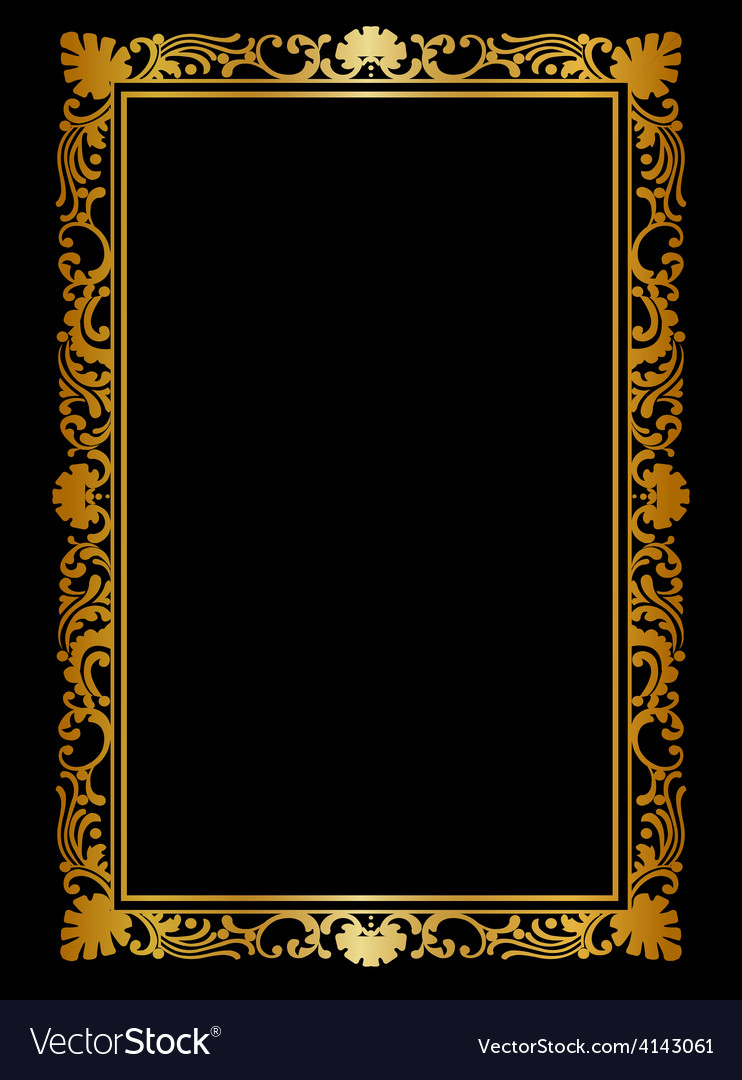 Golden frame vector | Price: 1 Credit (USD $1)