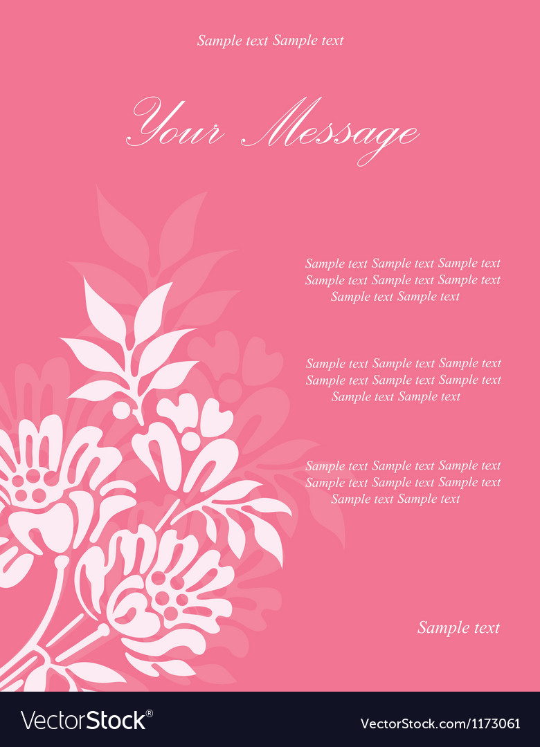 Invitation floral card vector | Price: 1 Credit (USD $1)