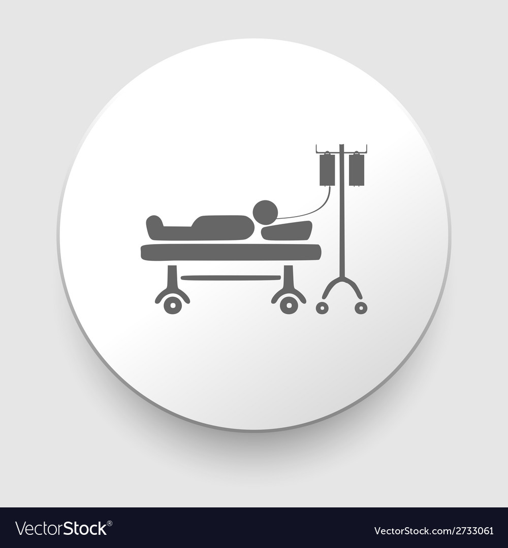 Man resting at hospital bed vector | Price: 1 Credit (USD $1)