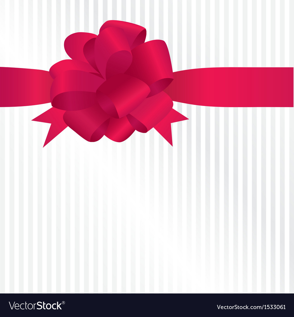 Shiny red satin ribbon on white background vector | Price: 1 Credit (USD $1)
