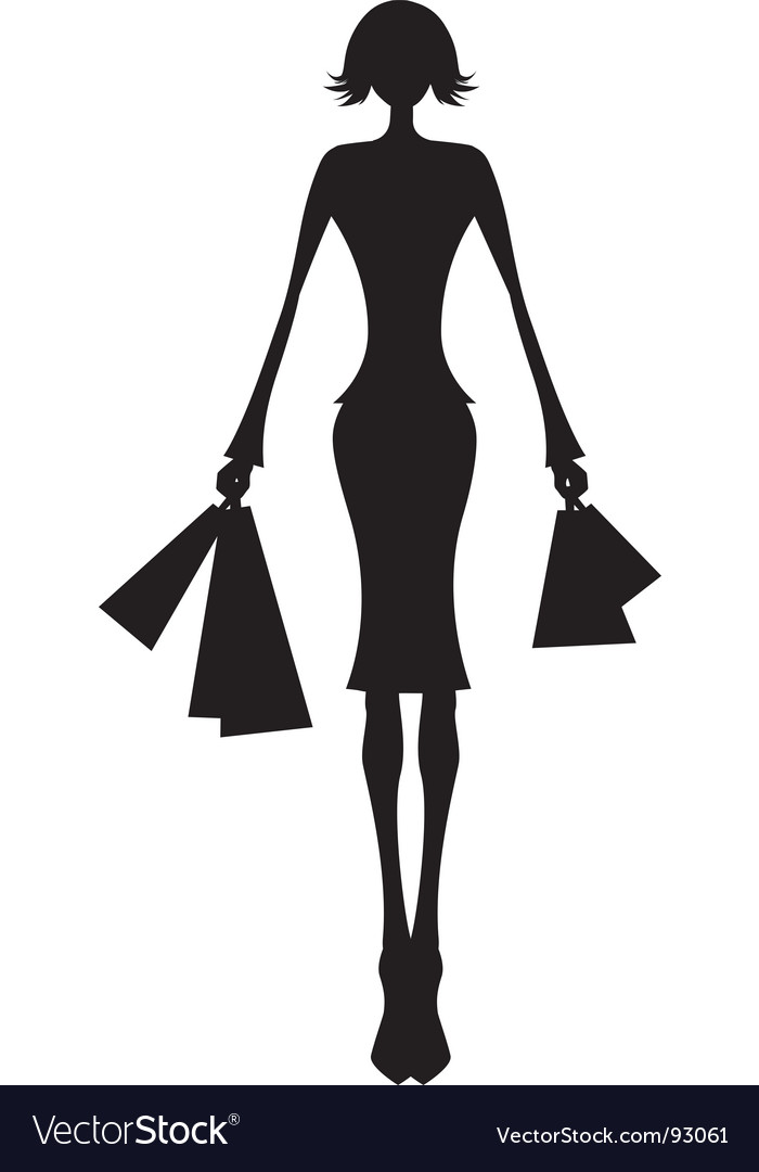Shop woman front vector | Price: 1 Credit (USD $1)