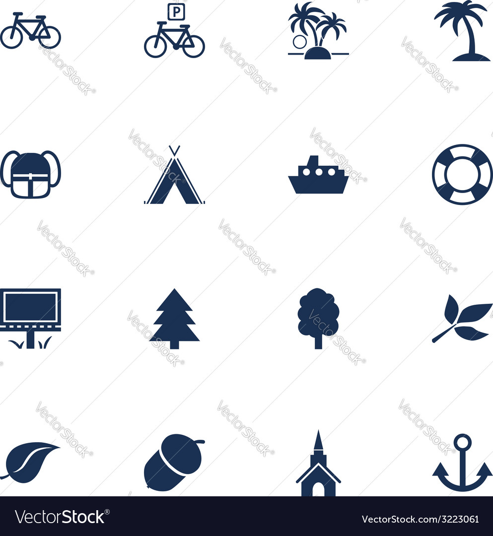 Tourism and leisure icons vector | Price: 1 Credit (USD $1)