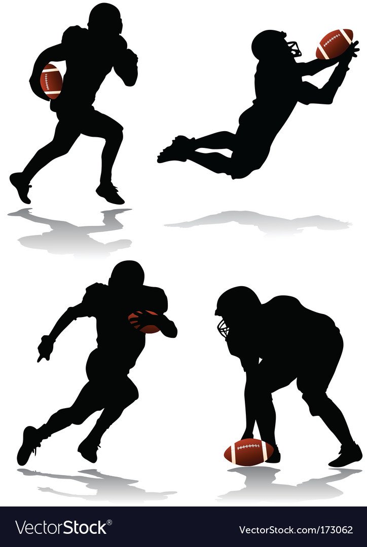 American football player vector | Price: 1 Credit (USD $1)