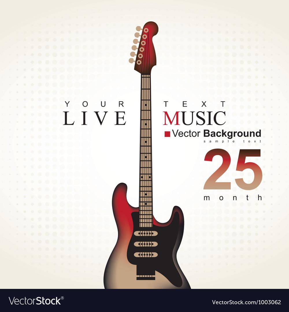 Brown guitar vector   Price: 1 Credit (USD $1)
