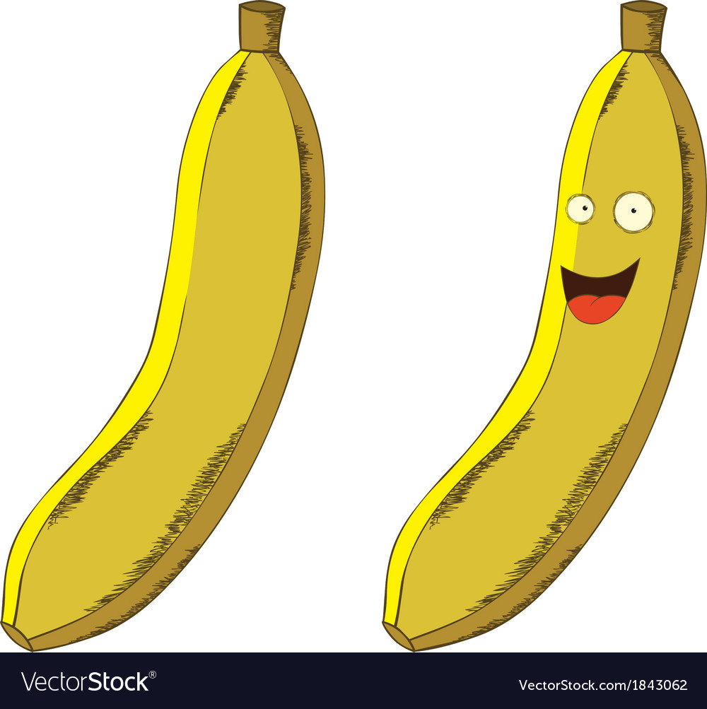 Cartoon banana vector | Price: 1 Credit (USD $1)