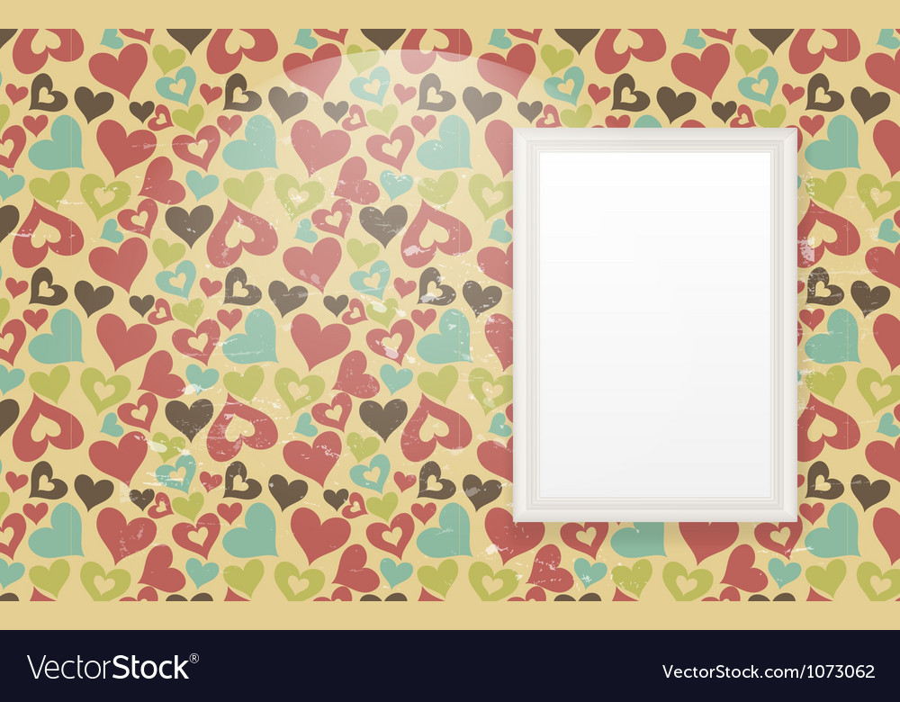 Frame on vintage retro background vector | Price: 1 Credit (USD $1)