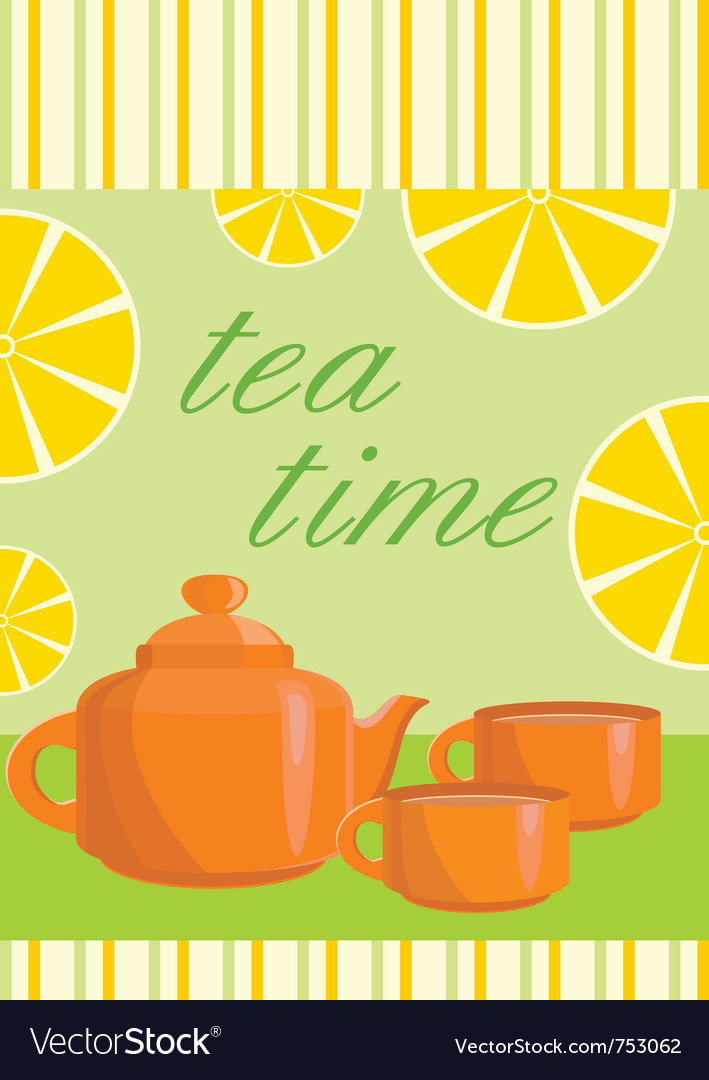 Menu tea service vector | Price: 1 Credit (USD $1)