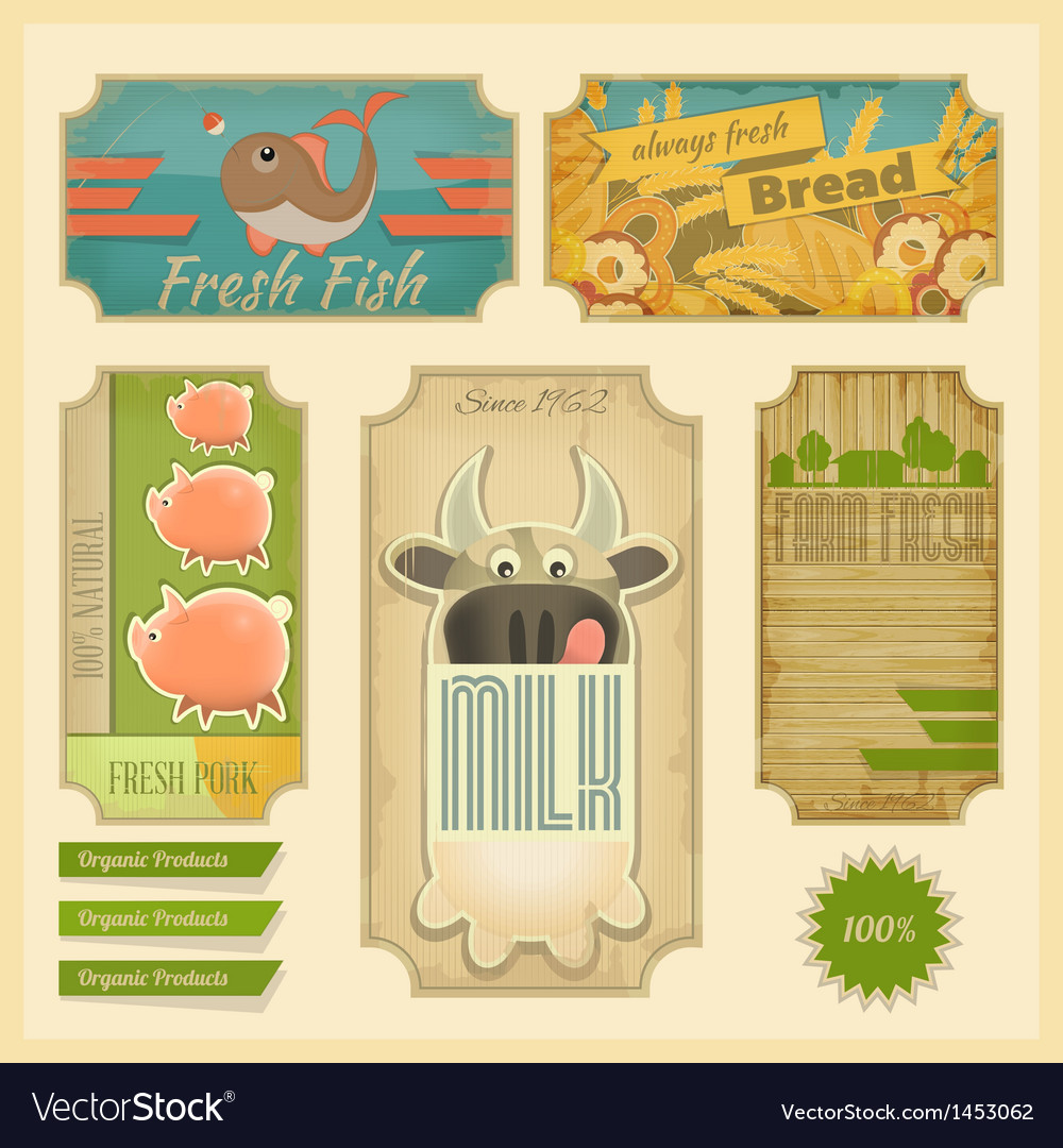 Organic products vector | Price: 1 Credit (USD $1)