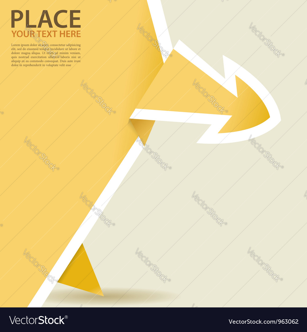 Paper origami arrow vector | Price: 1 Credit (USD $1)