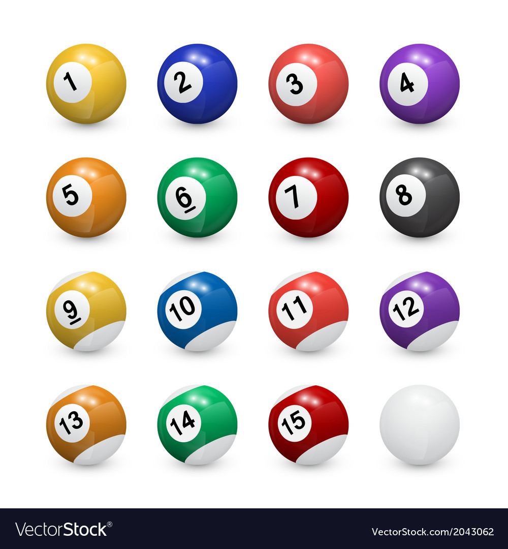 Pool balls vector | Price: 1 Credit (USD $1)