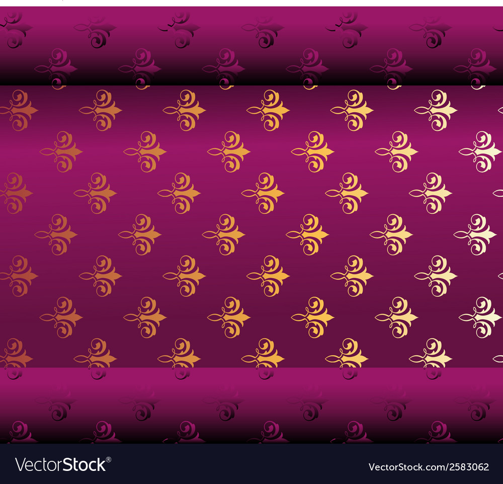 Seamless dark purple wallpaper vector | Price: 1 Credit (USD $1)