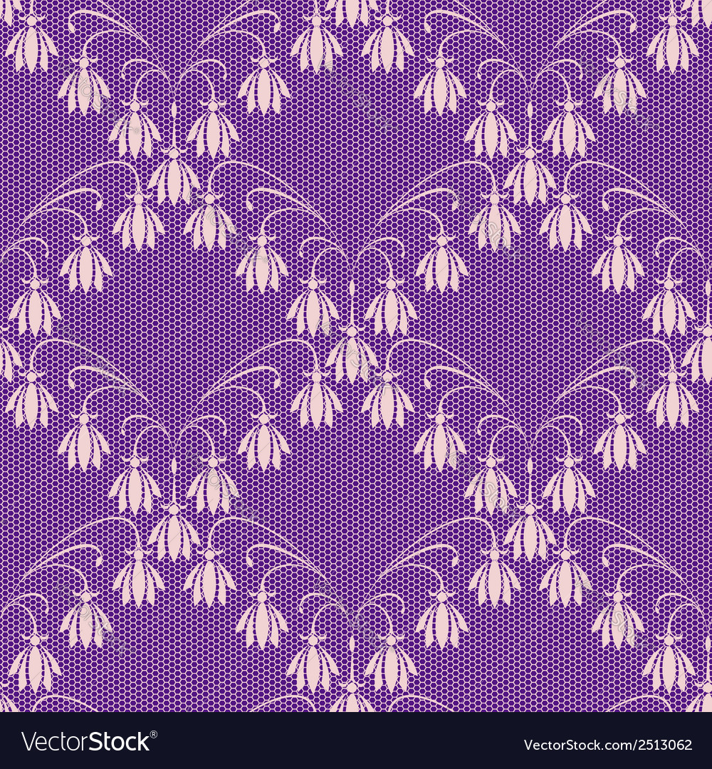 Seamless pink lacy background with flower net vector | Price: 1 Credit (USD $1)