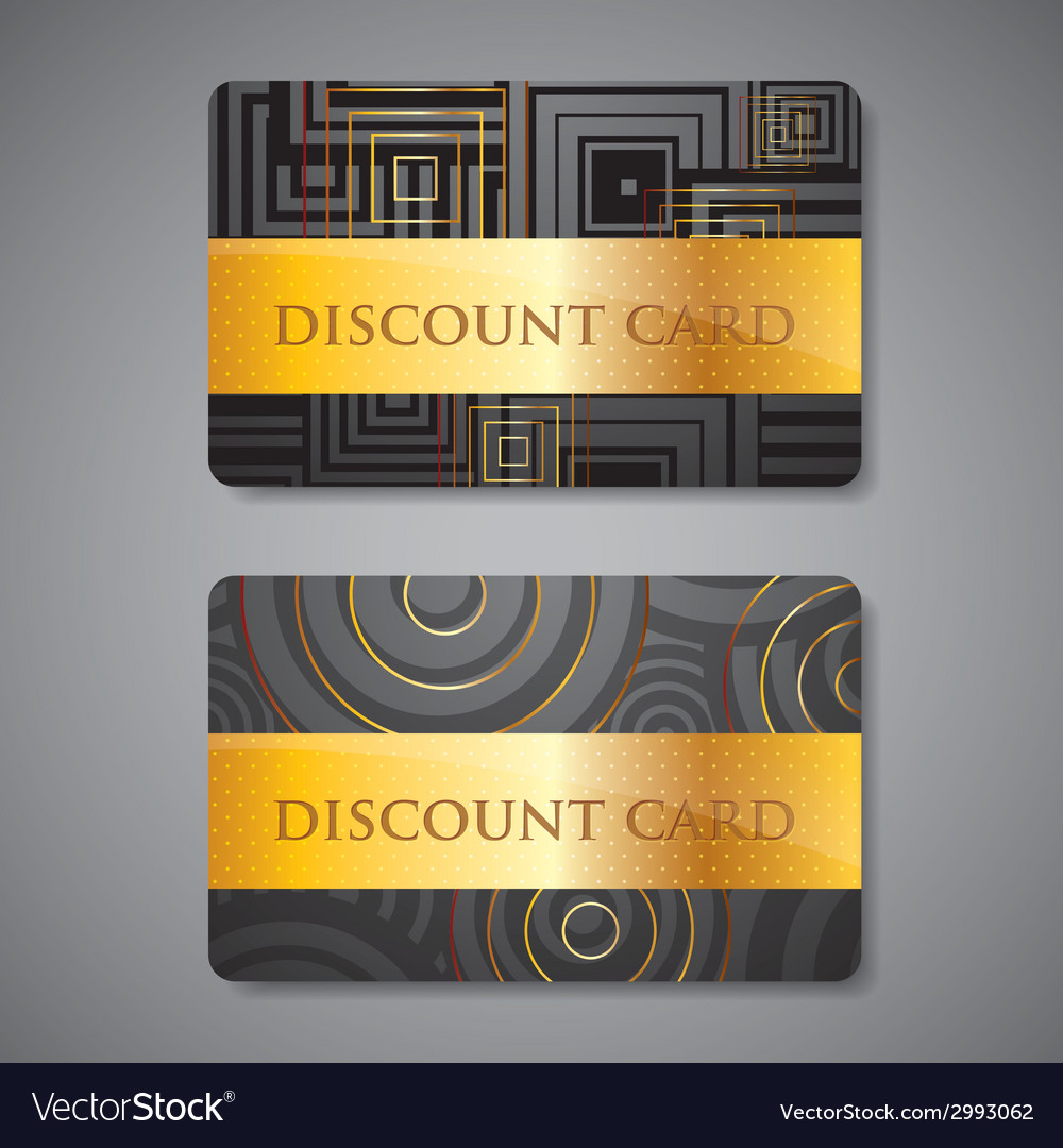 Set of discount cards vector | Price: 1 Credit (USD $1)