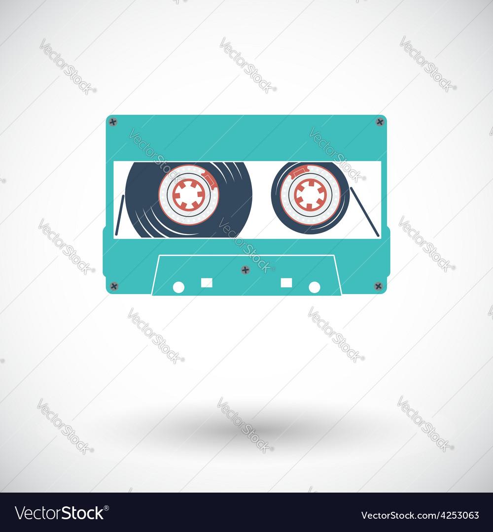 Audiocassette single icon vector | Price: 1 Credit (USD $1)
